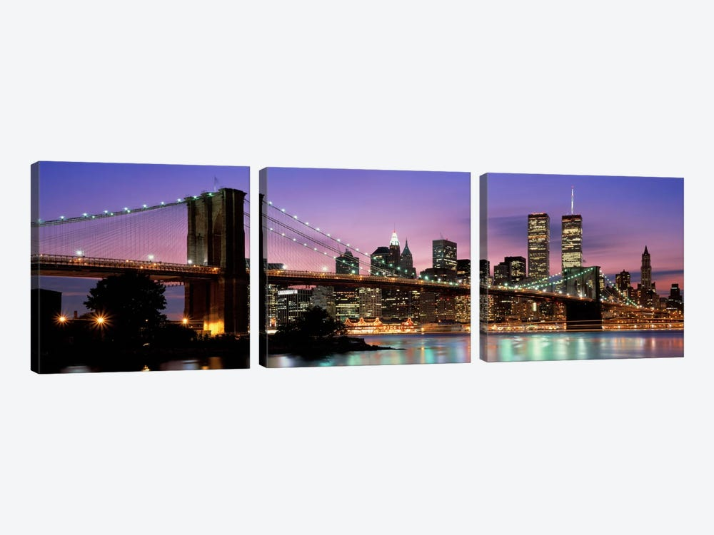 Brooklyn Bridge New York NY USA by Panoramic Images 3-piece Canvas Art