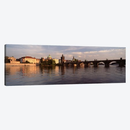Charles Bridge Vltava River Prague Czech Republic Canvas Print #PIM2275} by Panoramic Images Art Print