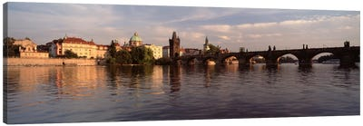 Charles Bridge Vltava River Prague Czech Republic Canvas Art Print