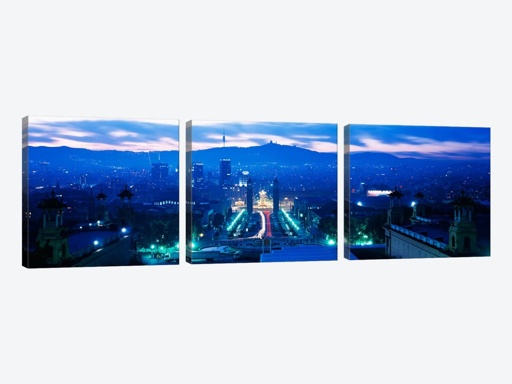 Barcelona Spain by Panoramic Images 3-piece Canvas Wall Art