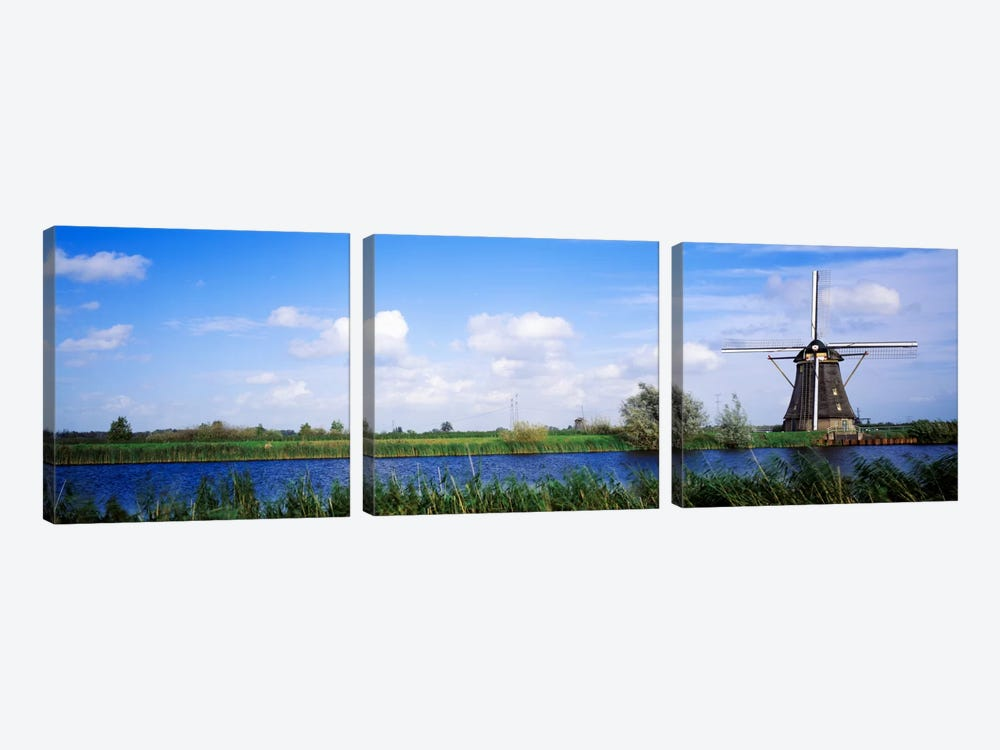 Windmill Holland 3-piece Canvas Print