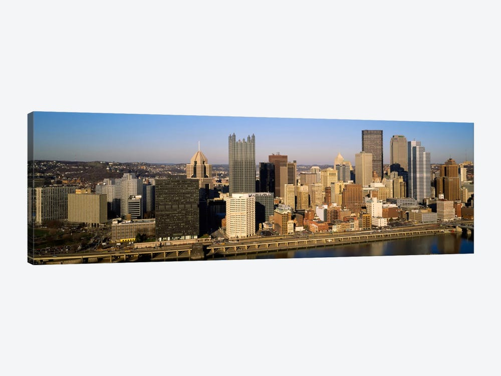 High angle view of buildings in a city, Pittsburgh, Pennsylvania, USA by Panoramic Images 1-piece Canvas Wall Art