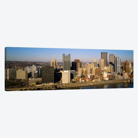 High angle view of buildings in a city, Pittsburgh, Pennsylvania, USA Canvas Print #PIM227} by Panoramic Images Art Print