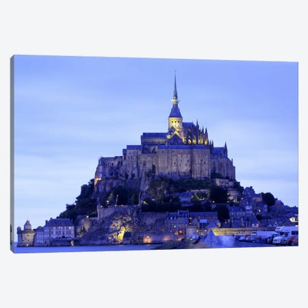 Mont St Michel Brittany France 3-Piece Canvas #PIM2280} by Panoramic Images Art Print
