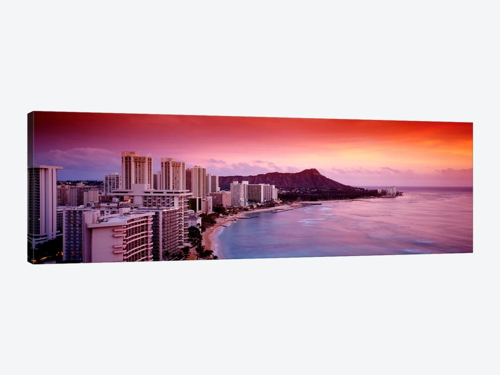 Sunset Honolulu Oahu HI USA 1-piece Canvas Wall Art