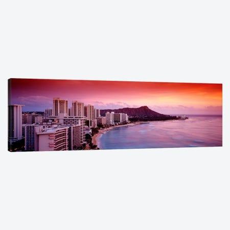 Sunset Honolulu Oahu HI USA Canvas Print #PIM2283} by Panoramic Images Canvas Print