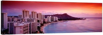 Sunset Honolulu Oahu HI USA Canvas Art Print