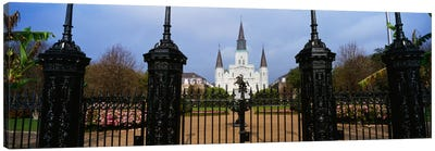 Facade of a church, St. Louis Cathedral, New Orleans, Louisiana, USA Canvas Art Print