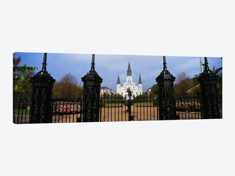 Facade of a church, St. Louis Cathedral, New Orleans, Louisiana, USA by Panoramic Images 1-piece Canvas Art Print