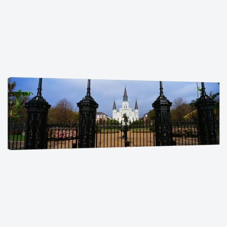 Facade of a church, St. Louis Cathedral, New Orleans, Louisiana, USA Canvas Print #PIM2288} by Panoramic Images Canvas Art Print