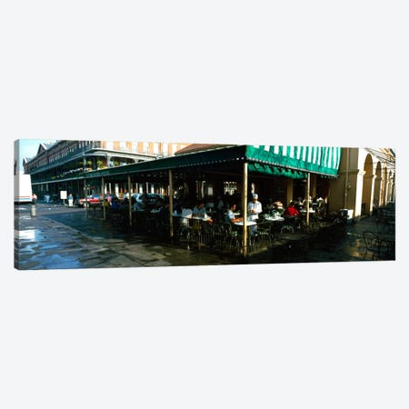 Tourists at a coffee shop, Cafe Du Monde, Decatur Street, French Quarter, New Orleans, Louisiana, USA Canvas Print #PIM2289} by Panoramic Images Art Print