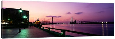 Bridge across a river, Savannah River, Atlanta, Georgia, USA Canvas Art Print