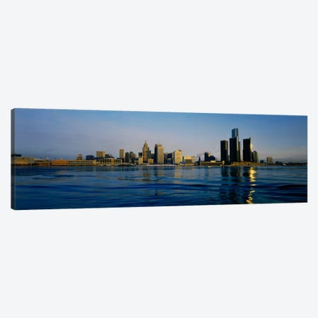 Buildings at the waterfront, Detroit, Michigan, USA #3 Canvas Print #PIM2293} by Panoramic Images Canvas Artwork