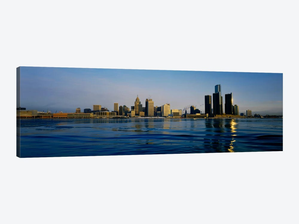 Buildings at the waterfront, Detroit, Michigan, USA #3 by Panoramic Images 1-piece Canvas Art Print