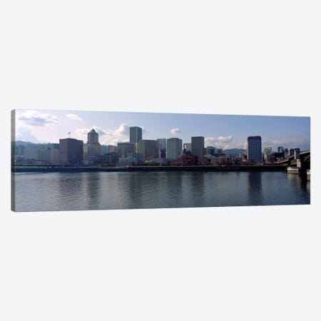 Skyscrapers along the river, Portland, Oregon, USA Canvas Print #PIM2296} by Panoramic Images Canvas Print