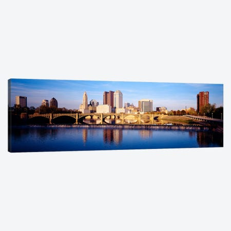 Bridge across a river, Scioto River, Columbus, Ohio, USA Canvas Print #PIM2298} by Panoramic Images Canvas Art