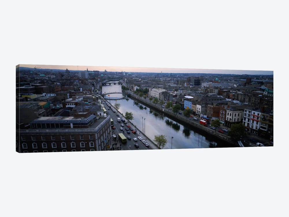 Aerial View Of River Liffey, Dublin, Leinster Province, Republic Of Ireland by Panoramic Images 1-piece Canvas Wall Art