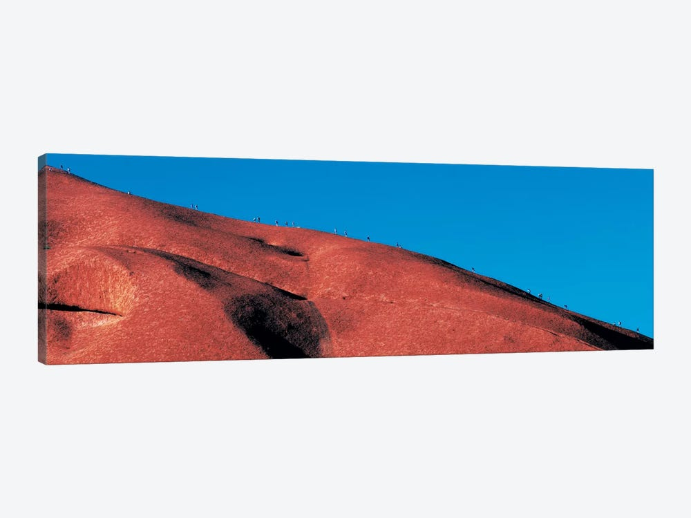 Climbers Ayers Rock Uluru Park Australia by Panoramic Images 1-piece Canvas Art
