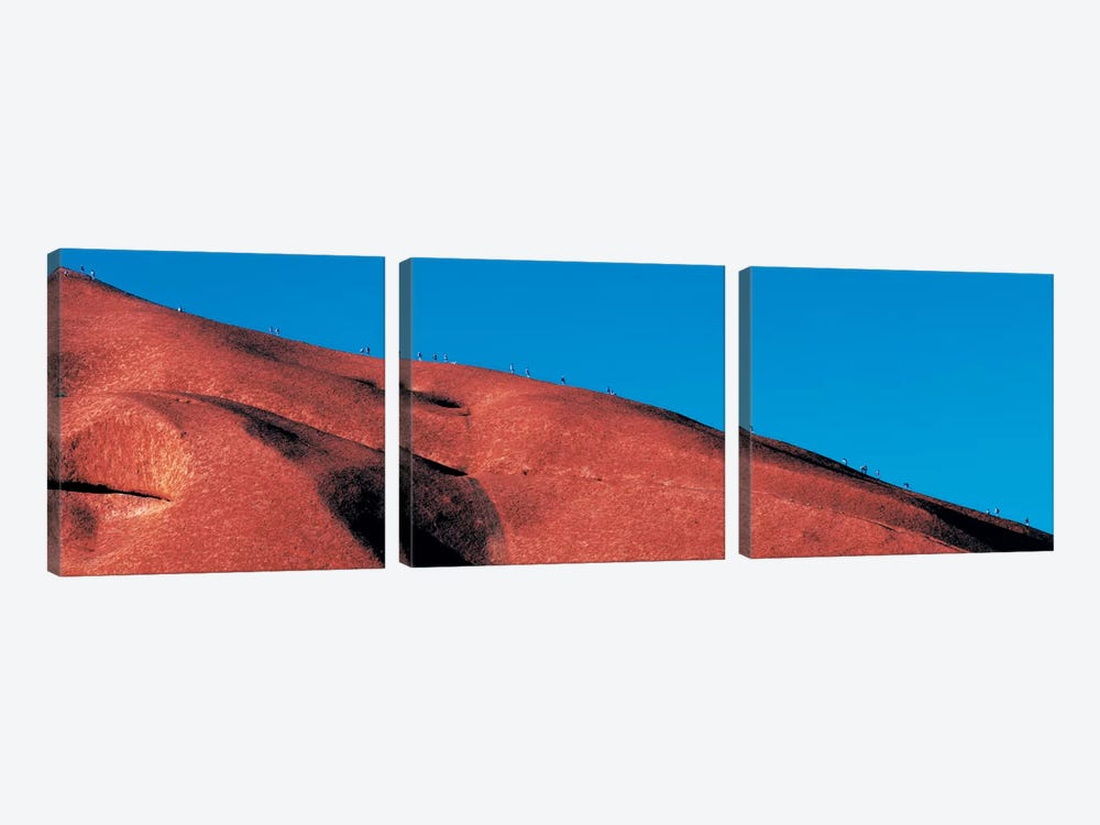 Climbers Ayers Rock Uluru Park Australia by Panoramic Images 3-piece Canvas Artwork