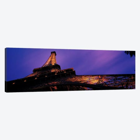 Dusk Eiffel Tower Paris France Canvas Print #PIM2305} by Panoramic Images Canvas Art Print