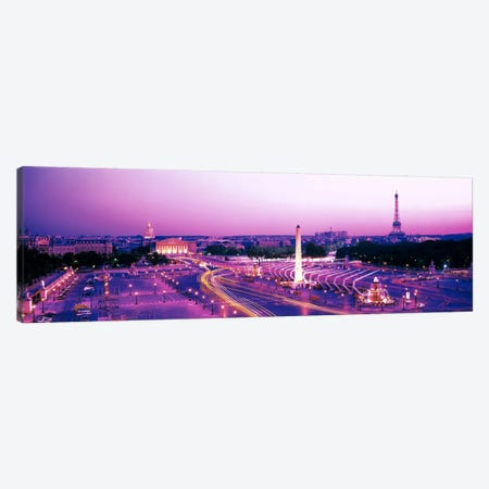 Dusk Place de la Concorde Paris France Canvas Print #PIM2306} by Panoramic Images Art Print