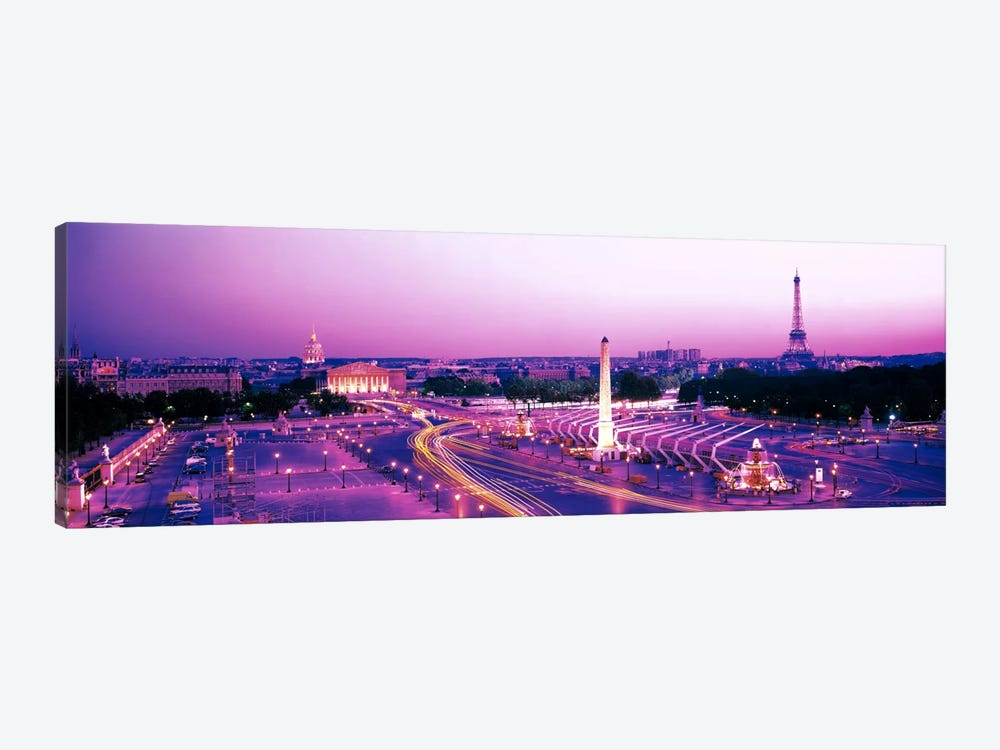 Dusk Place de la Concorde Paris France by Panoramic Images 1-piece Canvas Wall Art