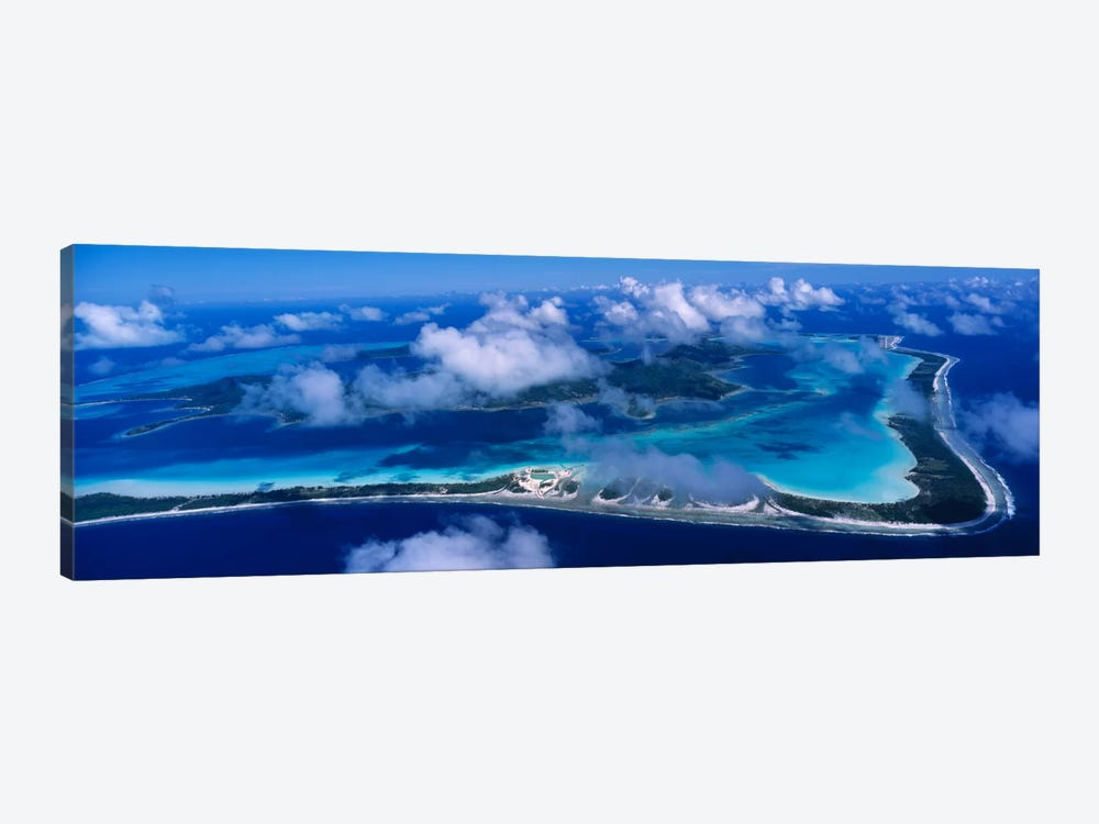 Cloudy Aerial View, Bora Bora, Leeward Islands, Society Islands, French Polynesia by Panoramic Images 1-piece Canvas Print