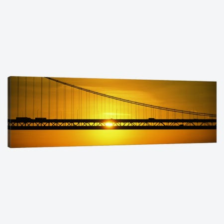 Sunrise Bay Bridge San Francisco CA USA Canvas Print #PIM2308} by Panoramic Images Canvas Art
