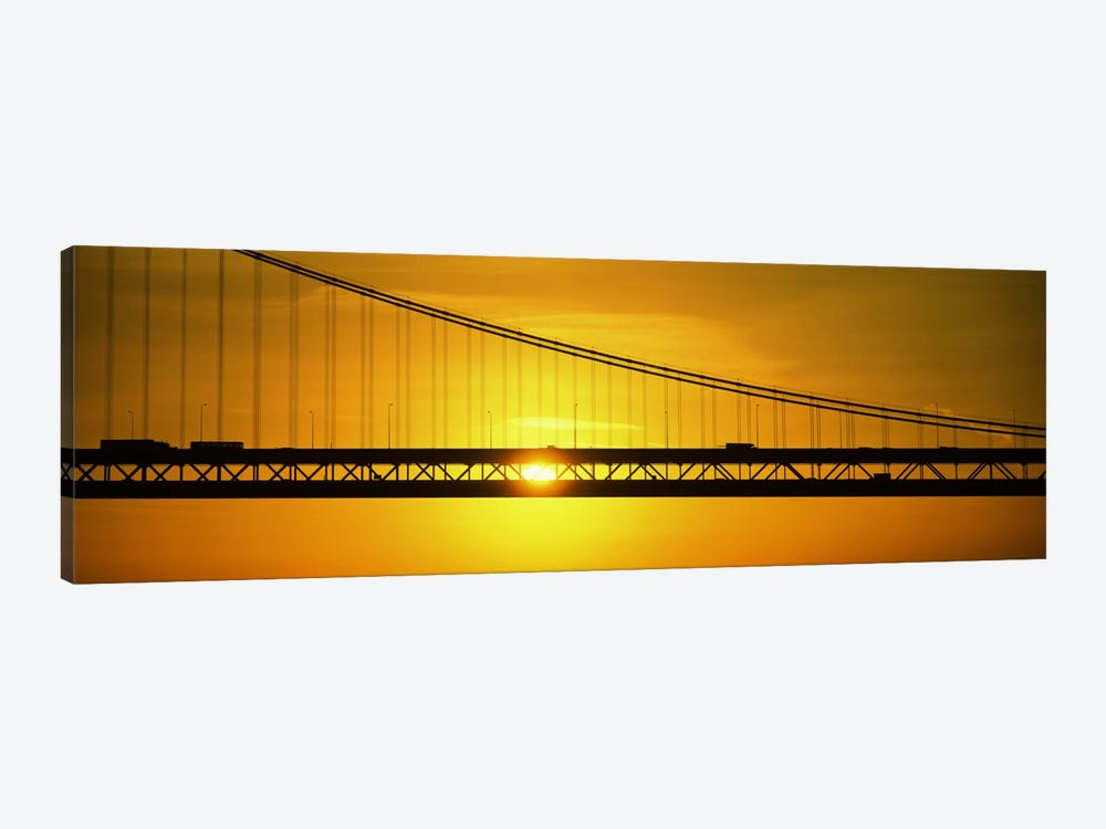 Sunrise Bay Bridge San Francisco CA USA by Panoramic Images 1-piece Canvas Artwork