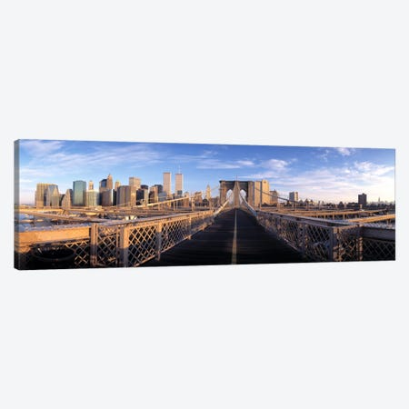 Pedestrian Walkway Brooklyn Bridge New York NY USA Canvas Print #PIM2309} by Panoramic Images Canvas Art