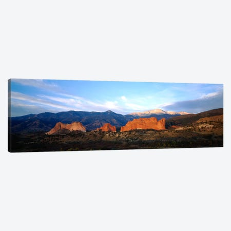 Rock formations on a landscapeGarden of The Gods, Colorado Springs, Colorado, USA Canvas Print #PIM230} by Panoramic Images Art Print