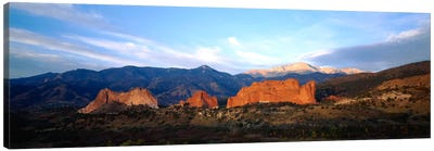 Rock formations on a landscapeGarden of The Gods, Colorado Springs, Colorado, USA Canvas Print #PIM230