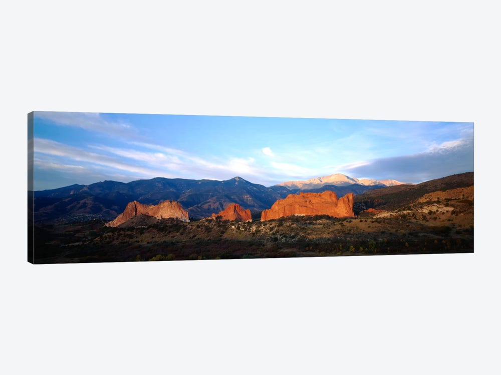 Rock formations on a landscapeGarden of The Gods, Colorado Springs, Colorado, USA by Panoramic Images 1-piece Canvas Wall Art