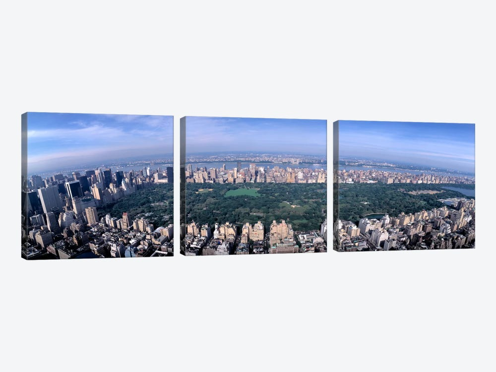Aerial Central Park New York NY USA by Panoramic Images 3-piece Canvas Artwork