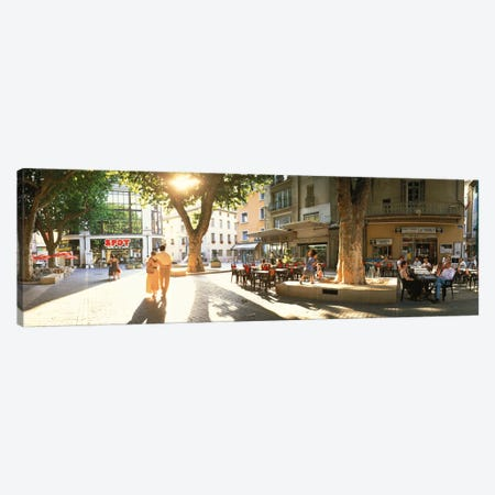 Cafe Provence France Canvas Print #PIM2314} by Panoramic Images Canvas Wall Art