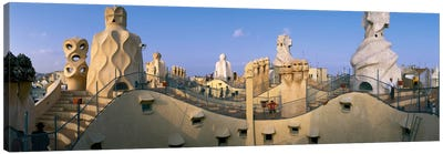 Casa Mila Barcelona Spain Canvas Print #PIM2315