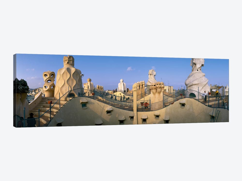 Casa Mila Barcelona Spain by Panoramic Images 1-piece Canvas Art