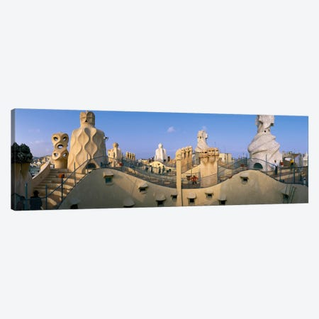 Casa Mila Barcelona Spain Canvas Print #PIM2315} by Panoramic Images Canvas Artwork