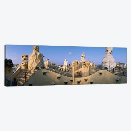 Casa Mila Barcelona Spain Canvas Print #PIM2315} by Panoramic Images Canvas Artwork