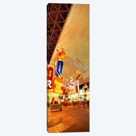 Fremont Street Downtown Las Vegas Canvas Print #PIM2317} by Panoramic Images Canvas Artwork