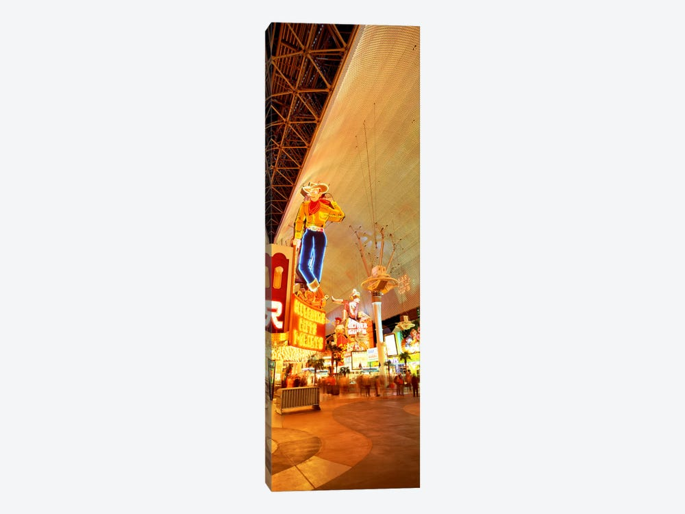 Fremont Street Downtown Las Vegas by Panoramic Images 1-piece Canvas Wall Art