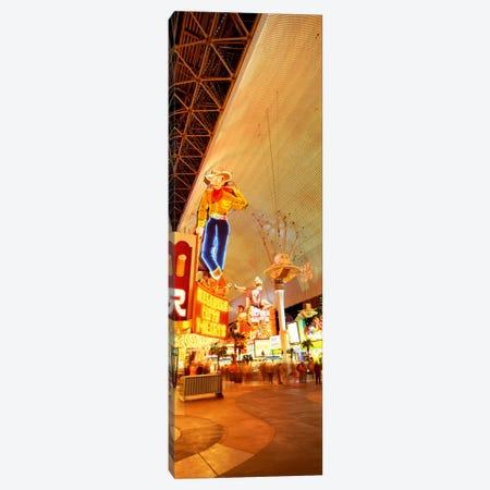 Fremont Street Downtown Las Vegas Canvas Print #PIM2317} by Panoramic Images Canvas Artwork