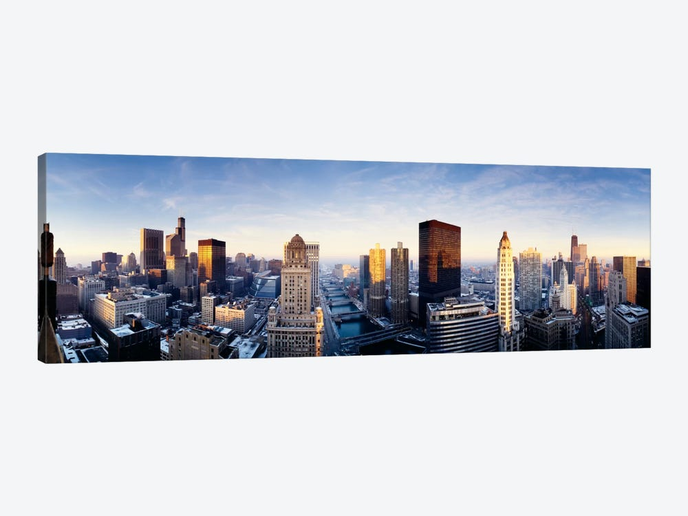 Downtown Skyline II, Chicago, Illinois, USA by Panoramic Images 1-piece Canvas Print