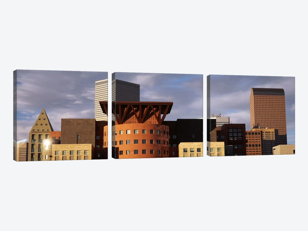 Skyscrapers In The City, Denver, Colorado, USA by Panoramic Images 3-piece Canvas Art