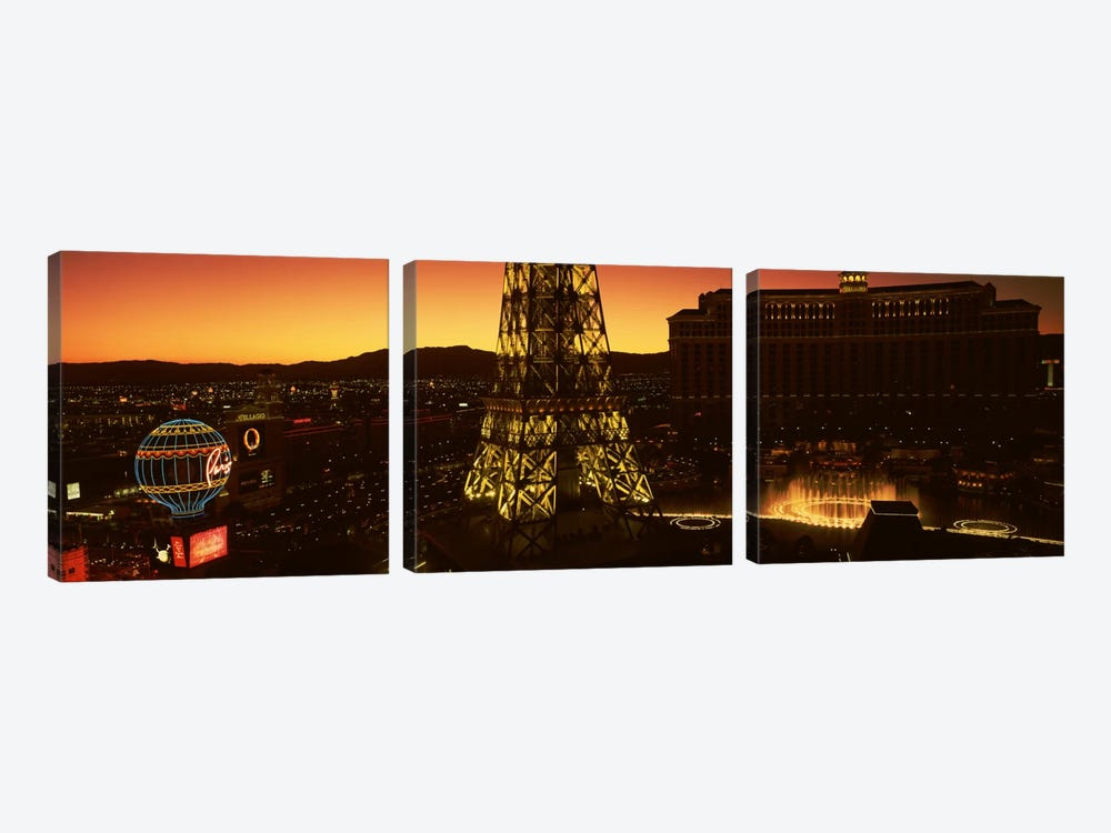 High Angle View Of A City, Las Vegas, Nevada, USA #2 by Panoramic Images 3-piece Art Print
