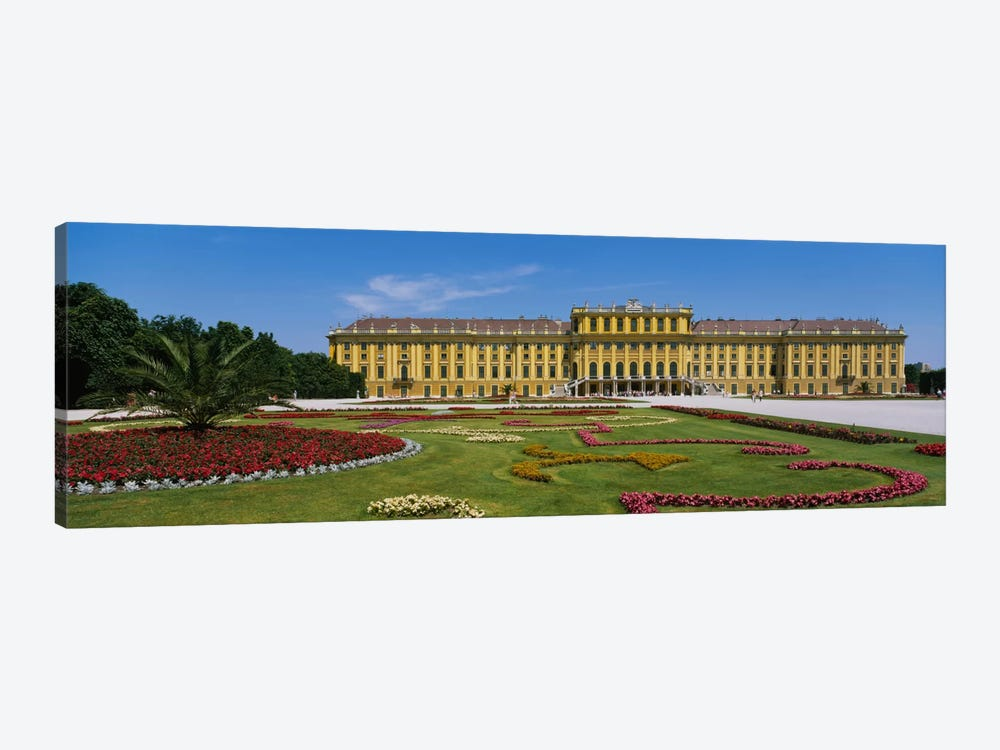 Facade of a building, Schonbrunn Palace, Vienna, Austria by Panoramic Images 1-piece Canvas Art Print