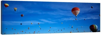 Low angle view of hot air balloons, Albuquerque, New Mexico, USA Canvas Art Print