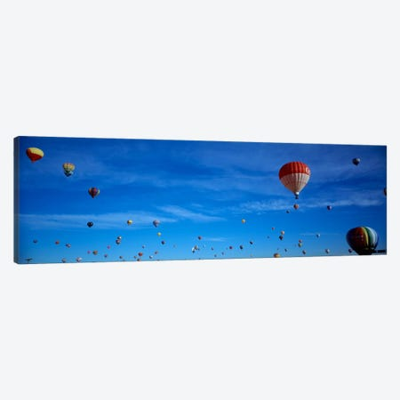 Low angle view of hot air balloons, Albuquerque, New Mexico, USA Canvas Print #PIM2329} by Panoramic Images Canvas Artwork