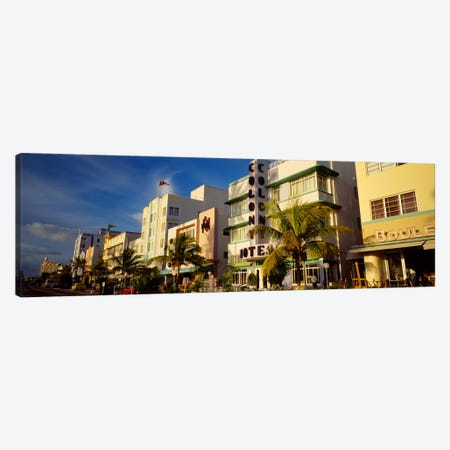 Facade of a hotel, Art Deco Hotel, Ocean Drive, Miami Beach, Florida, USA Canvas Print #PIM232} by Panoramic Images Canvas Art Print