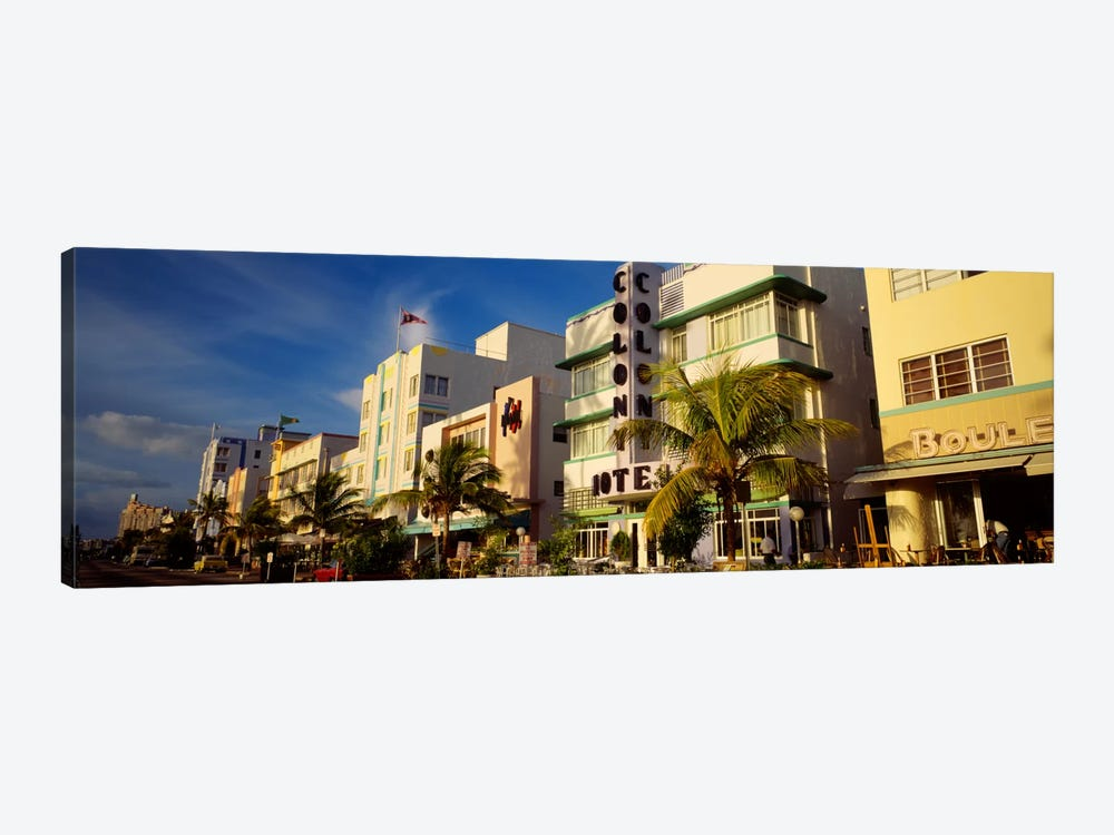 Facade of a hotel, Art Deco Hotel, Ocean Drive, Miami Beach, Florida, USA by Panoramic Images 1-piece Canvas Art
